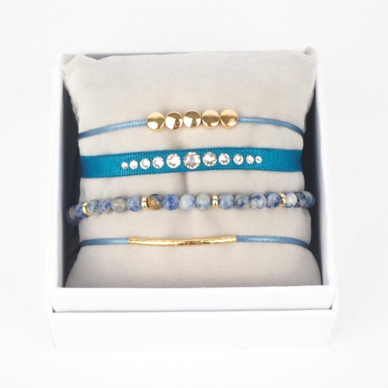Strass box Glam bleu jean...