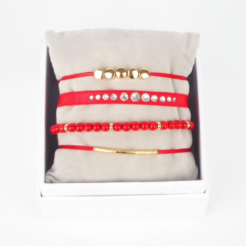 Red gold Galm Strass box -...