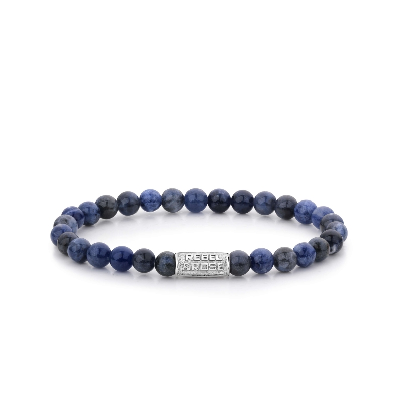 Bracelet Midnight Blue 6mm - Rebel & Rose