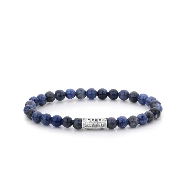 Midnight Blue 6mm stone bracelet - Rebel & Rose