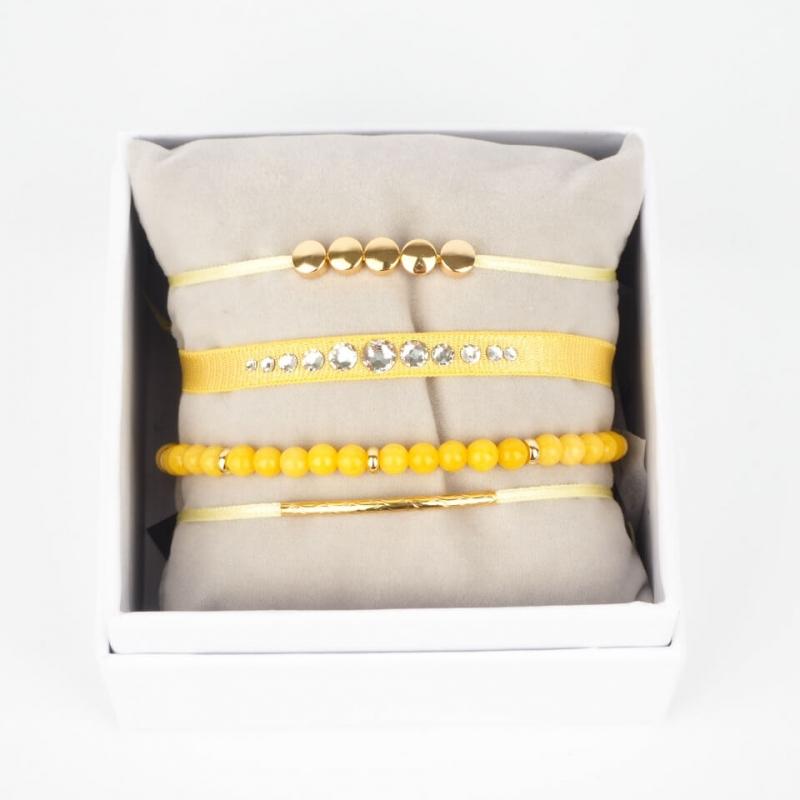 Strass box Glam jaune or -...