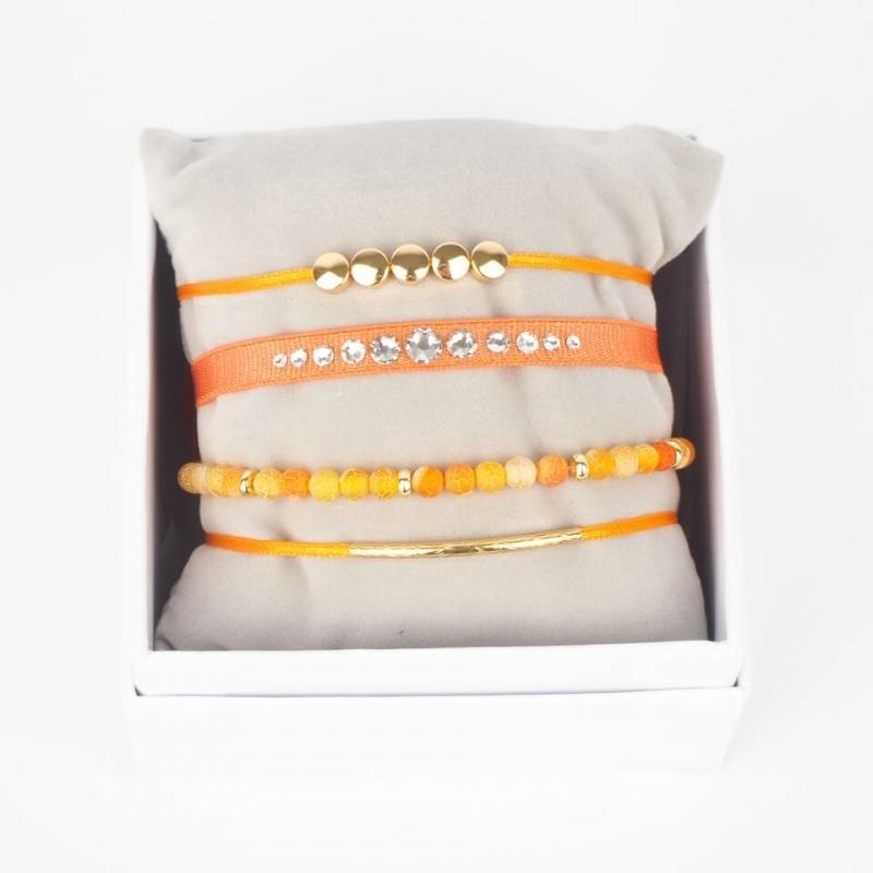 Orange gold Galm Strass box...