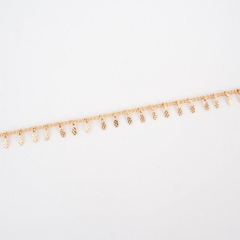 Ears mini gold bracelet - Pomme Cannelle