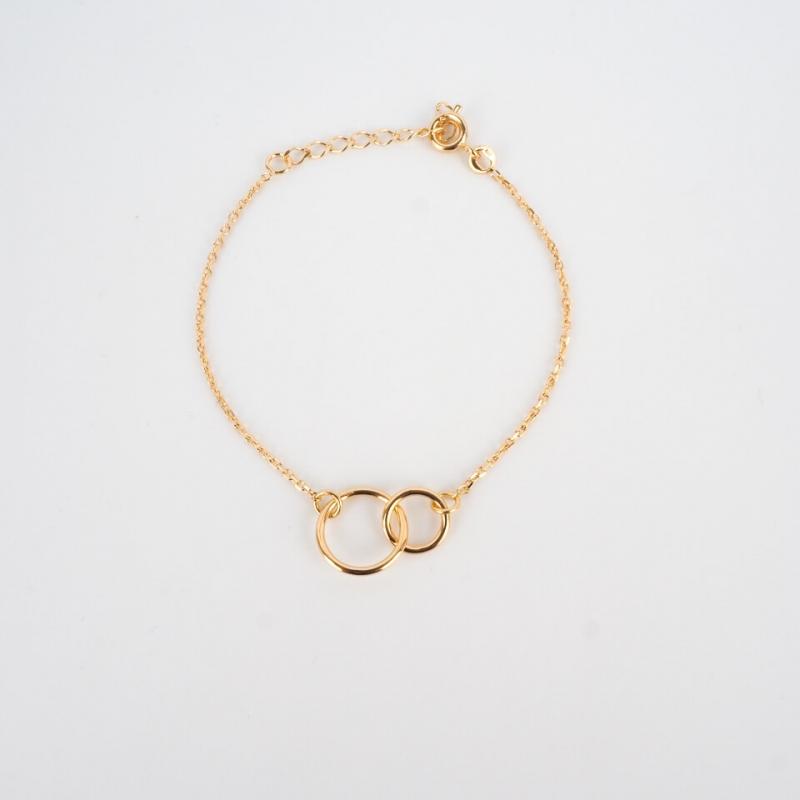 Bracelet double cercle en plaqué or - Pomme Cannelle
