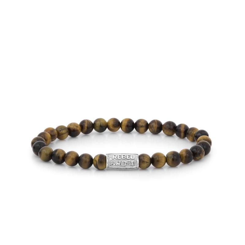 Tiger Lily 6mm stone bracelet - Rebel & Rose