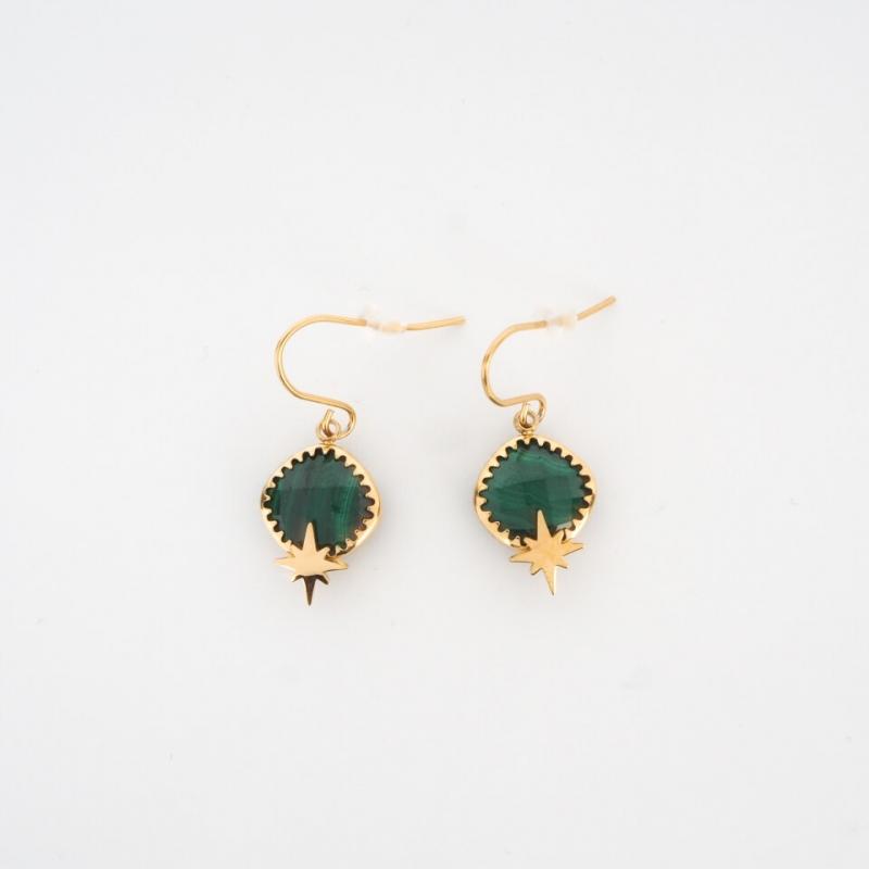 Horizon green gold earrings...