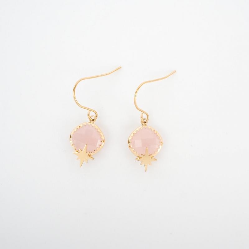 Horizon pink gold earrings...