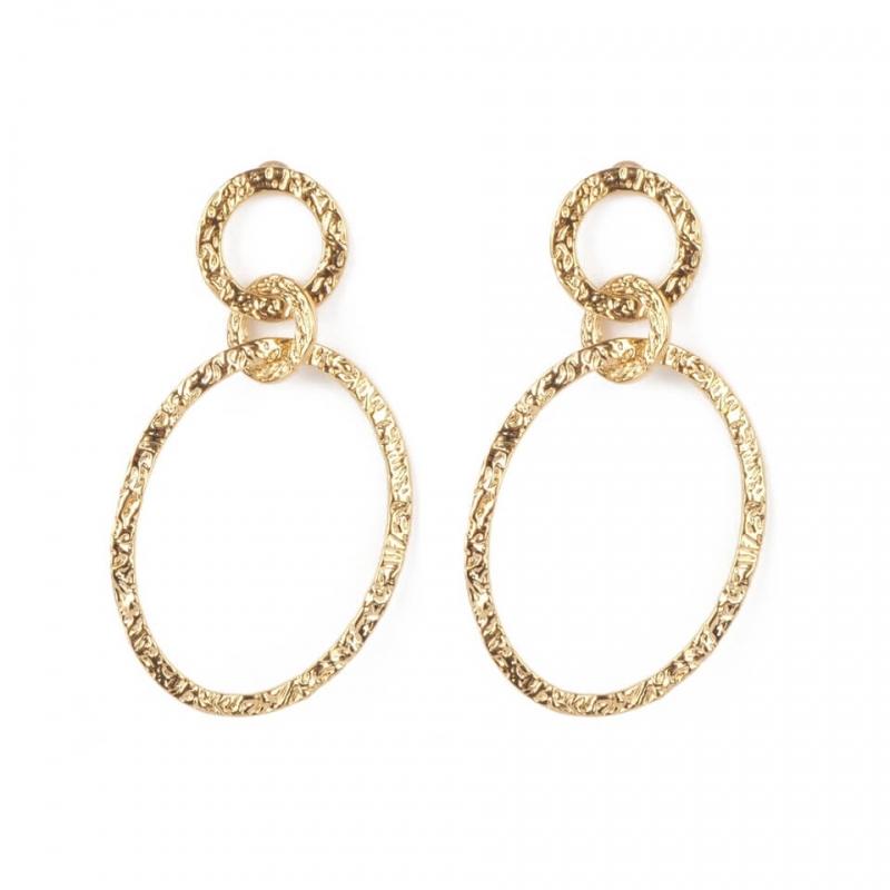Lucrecia gold earrings -...
