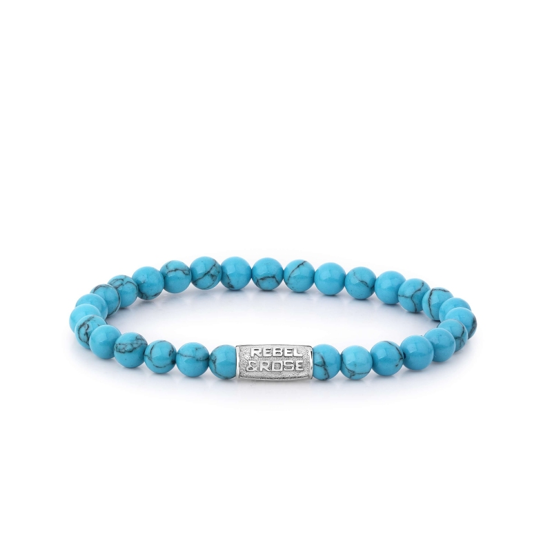 Bracelet Turquoise Delight 6mm - Rebel & Rose