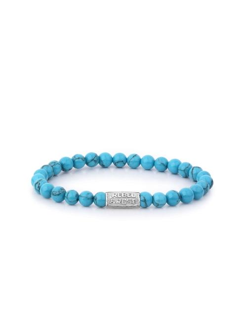 Turquoise Delight 6mm stone bracelet - Rebel & Rose