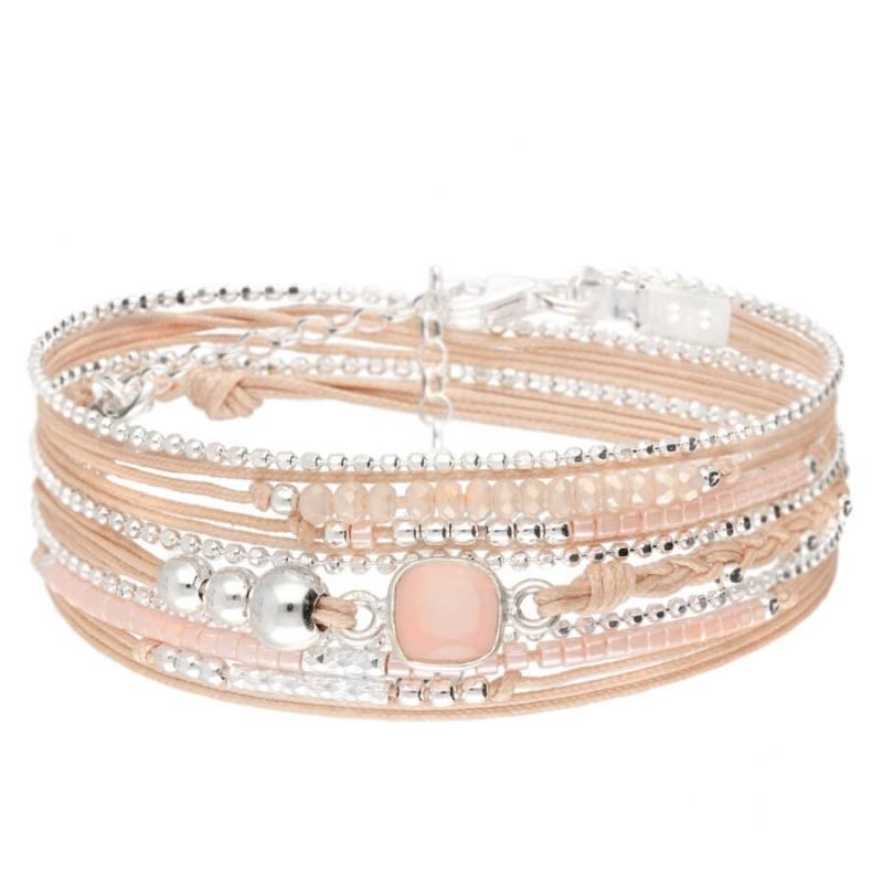 Cassis beige-pink bracelet...