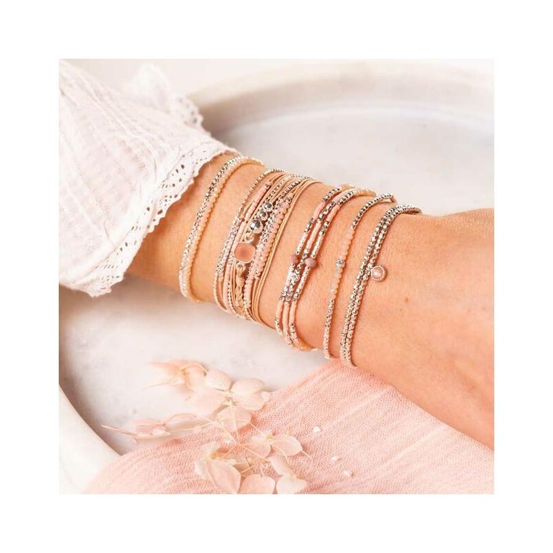 Bracelet Cassis beige-rose...