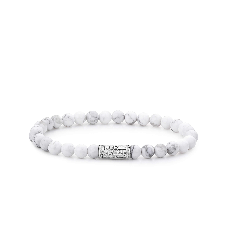 Bracelet Virgin White 6mm - Rebel & Rose