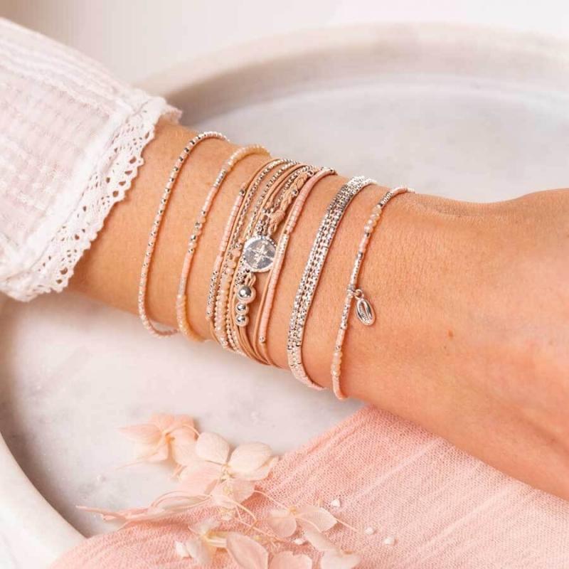Beige pink compass bracelet...