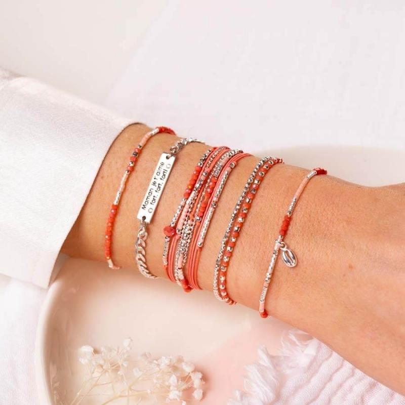 Bracelet Atlanta corail -...