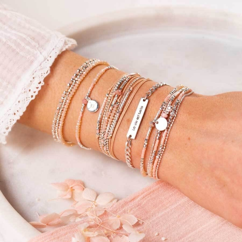 Bracelet Atlanta beige rose...