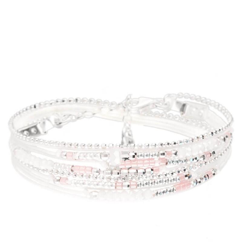 Bracelet Atlanta blanc rose...