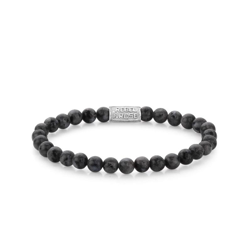 Grey Seduction 6mm stone bracelet - Rebel & Rose