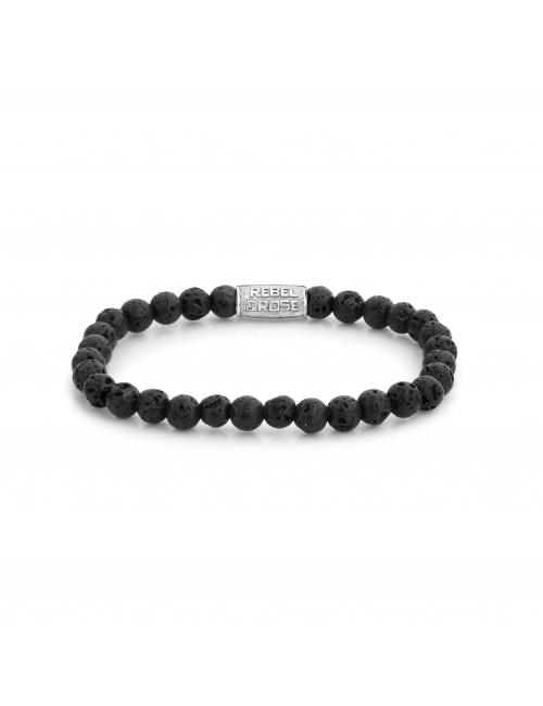 Black Moon 6mm stone bracelet - Rebel & Rose