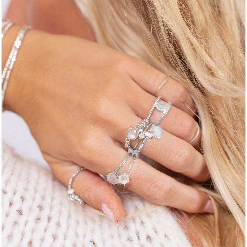 Bilbao silver ring -...