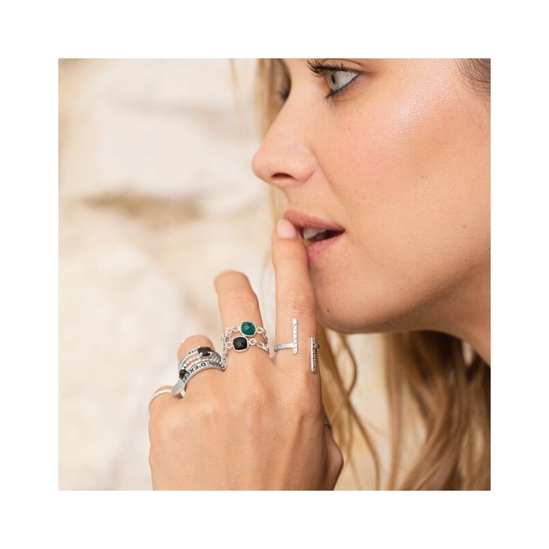 Milan silver ring - Doriane...