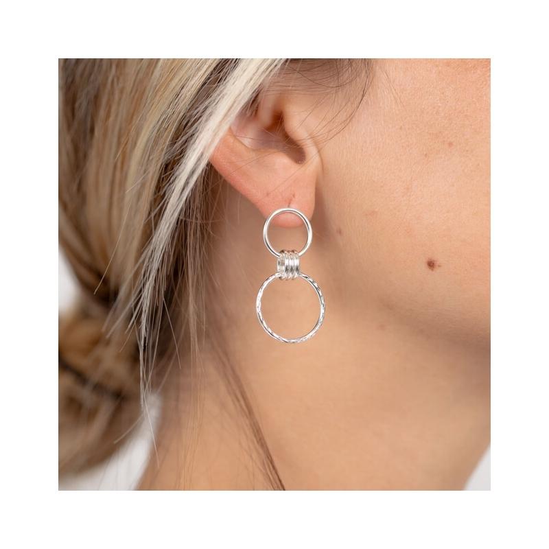 Nancy silver earrings -...