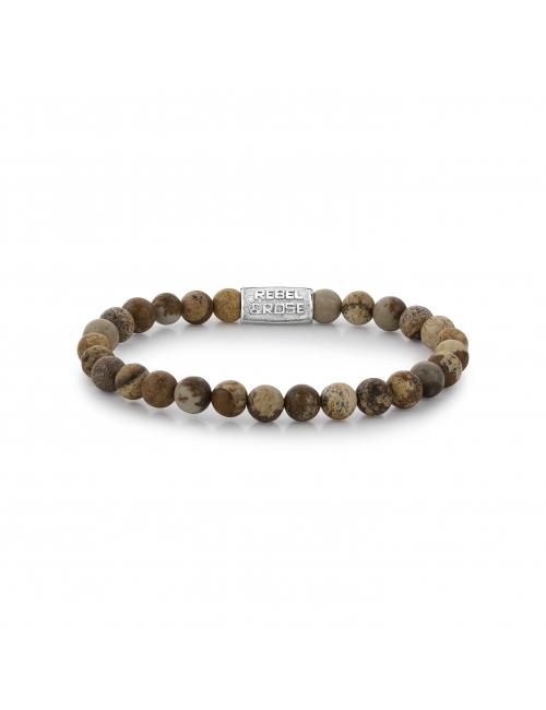 Woodstock 6mm stone bracelet - Rebel & Rose