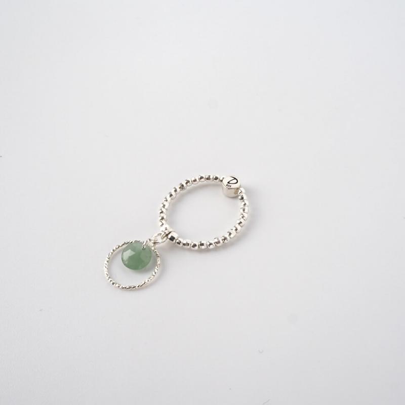 Fiji elastic silver ring -...