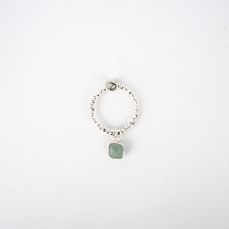 Piana elastic silver ring -...