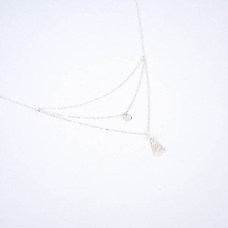 Triple row necklace with...
