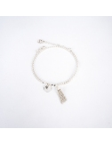 Double chain bracelet with...