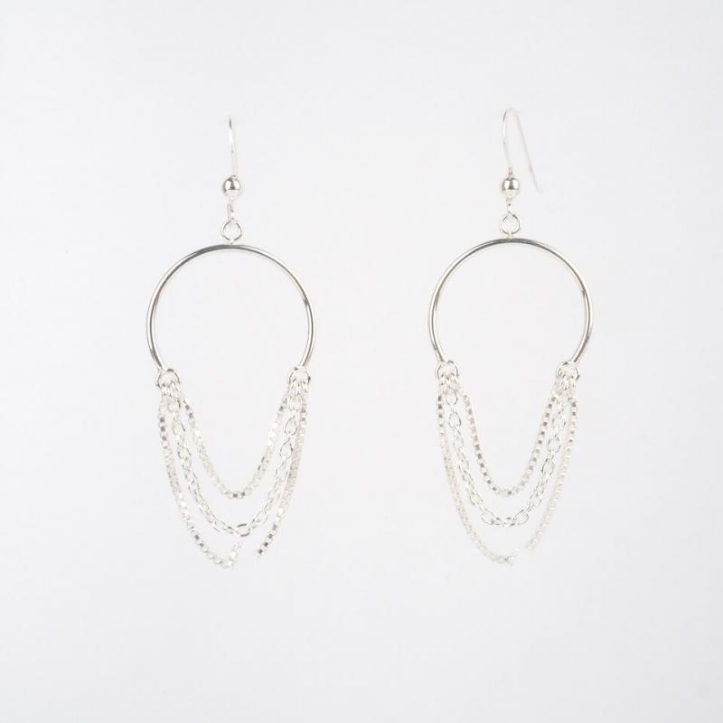 Triple silver chain...