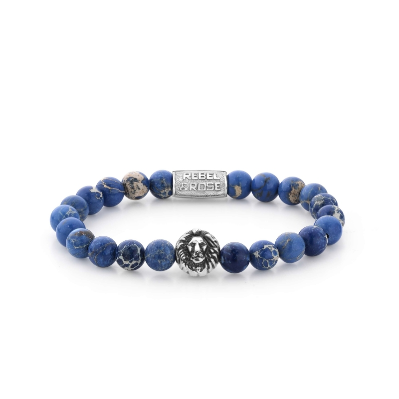 Bracelet Universe Blue Lion 8mm - Rebel & Rose