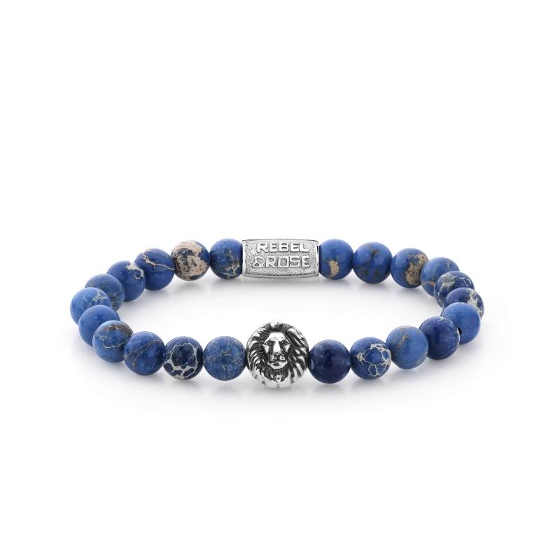 Universe Blue lion head stone bracelet - Rebel & Rose