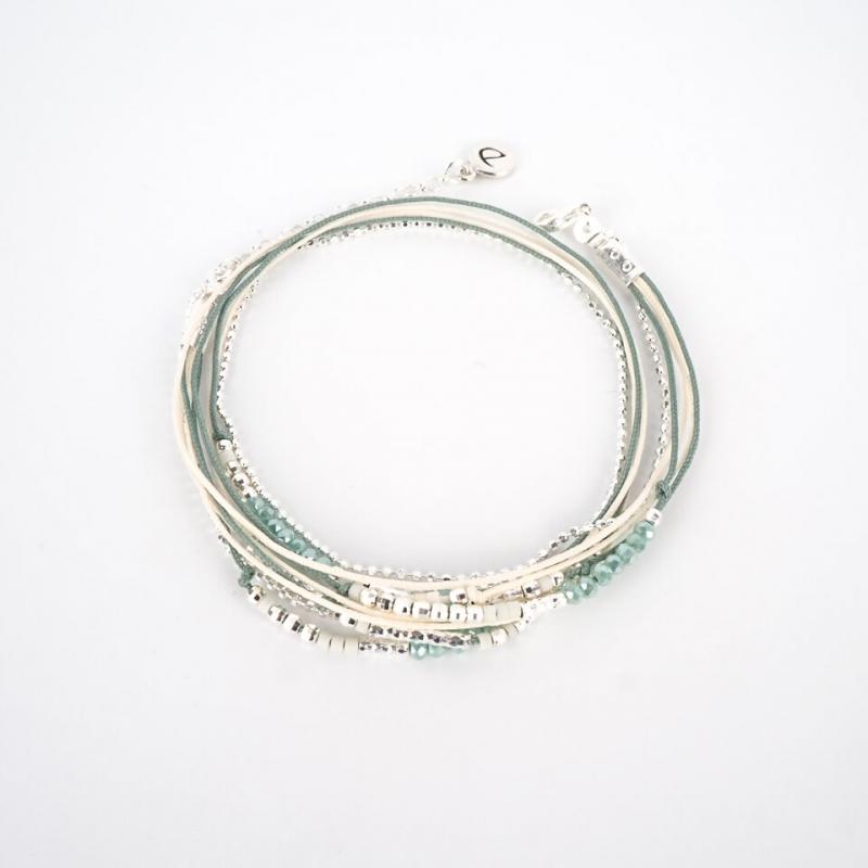 Bracelet Atlanta vert blanc...