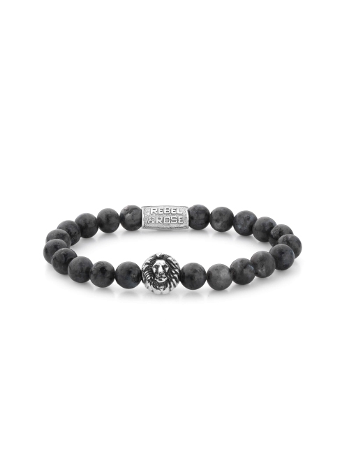 Grey Seduction lion head stone bracelet - Rebel & Rose