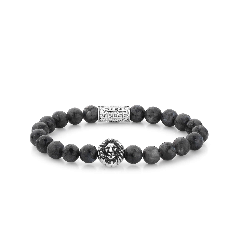 Bracelet Grey Seduction Lion 8mm - Rebel & Rose
