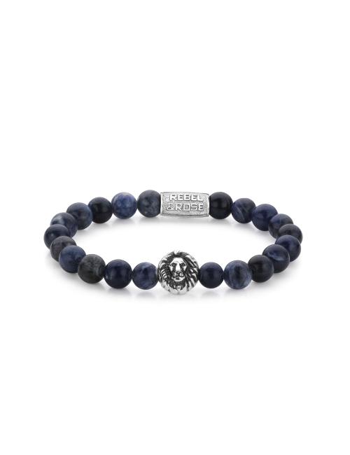 Bracelet Midnight Blue Lion 8mm - Rebel & Rose