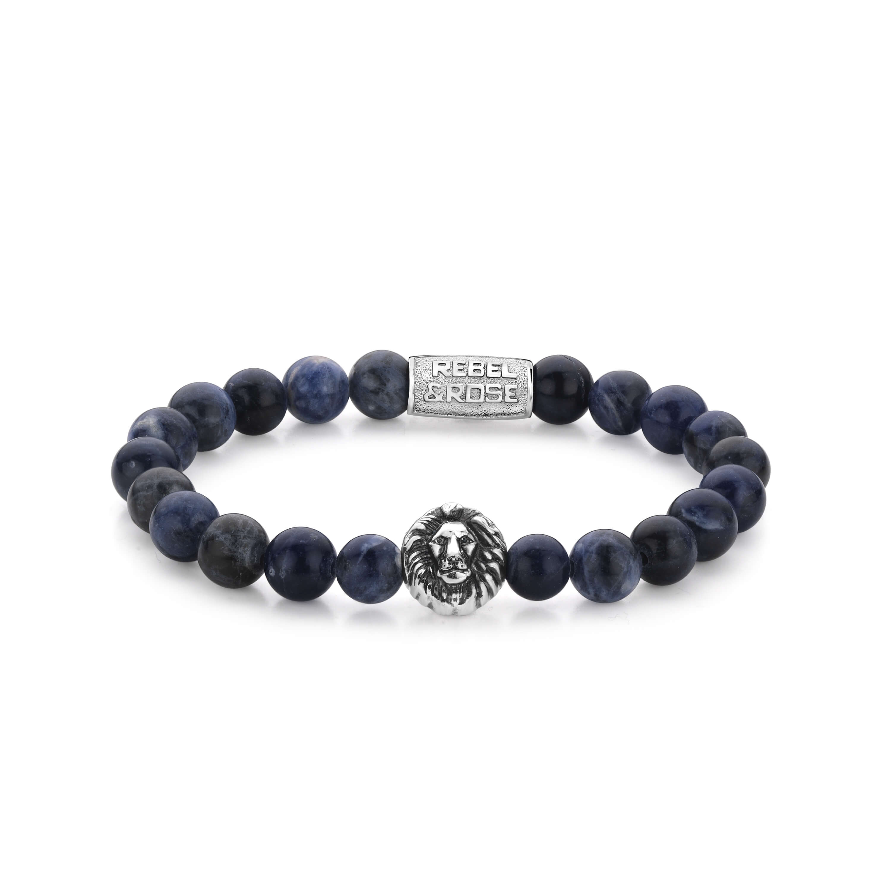 Bracelet Midnight Blue Lion 8mm - Rebel & Rose