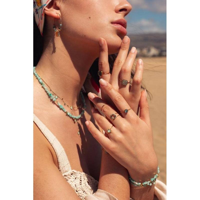 Golden blue Amael ring -...