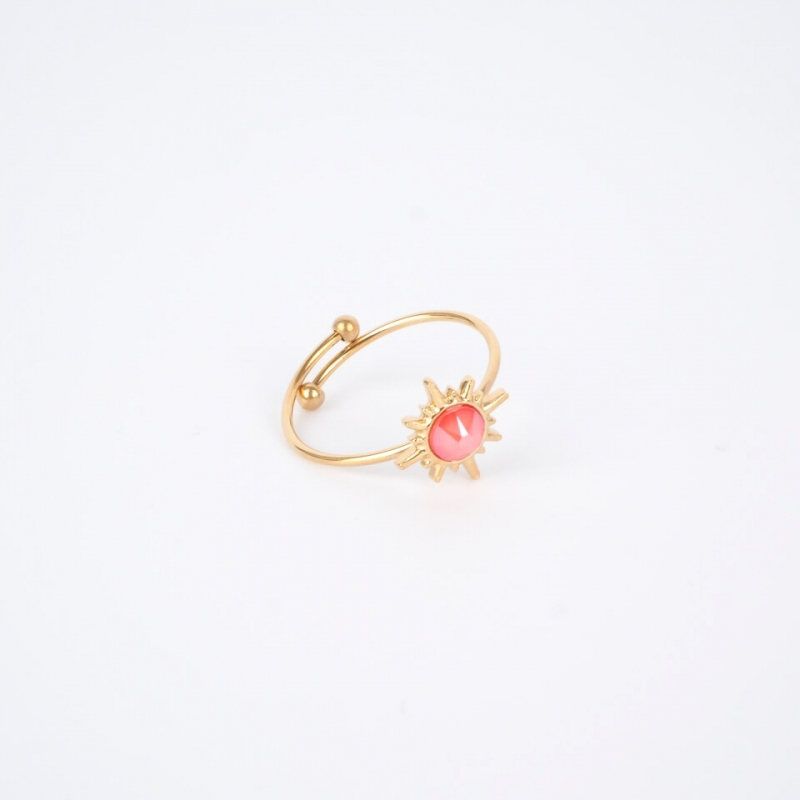 Golden coral Melany ring -...