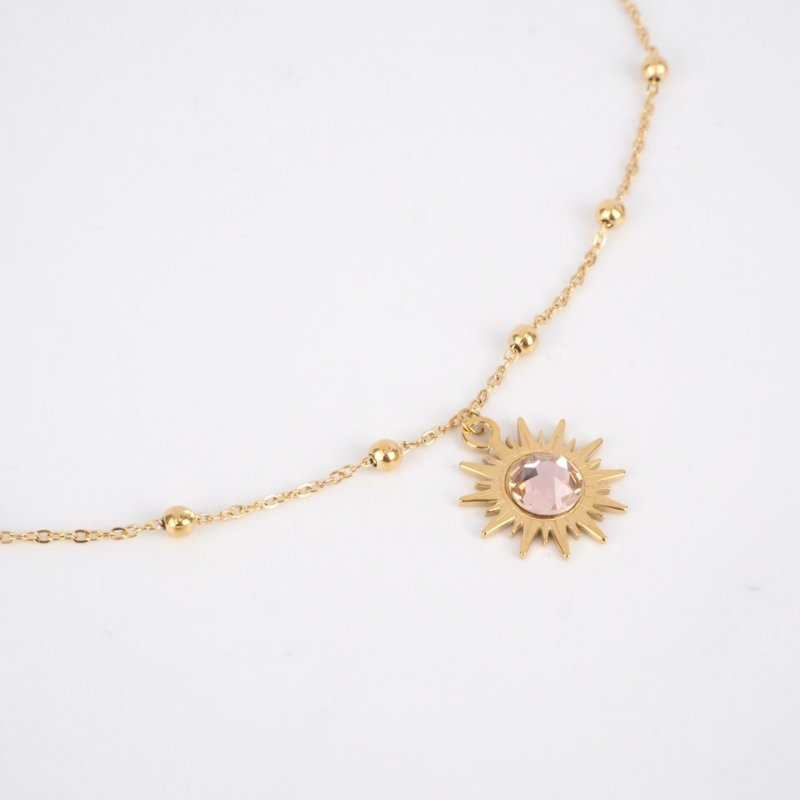 Mino rose gold necklace -...