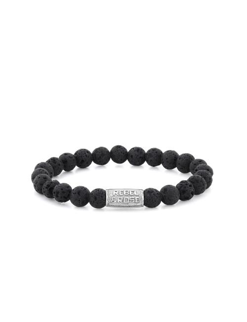 All Black Moon 8mm stone bracelet - Rebel & Rose