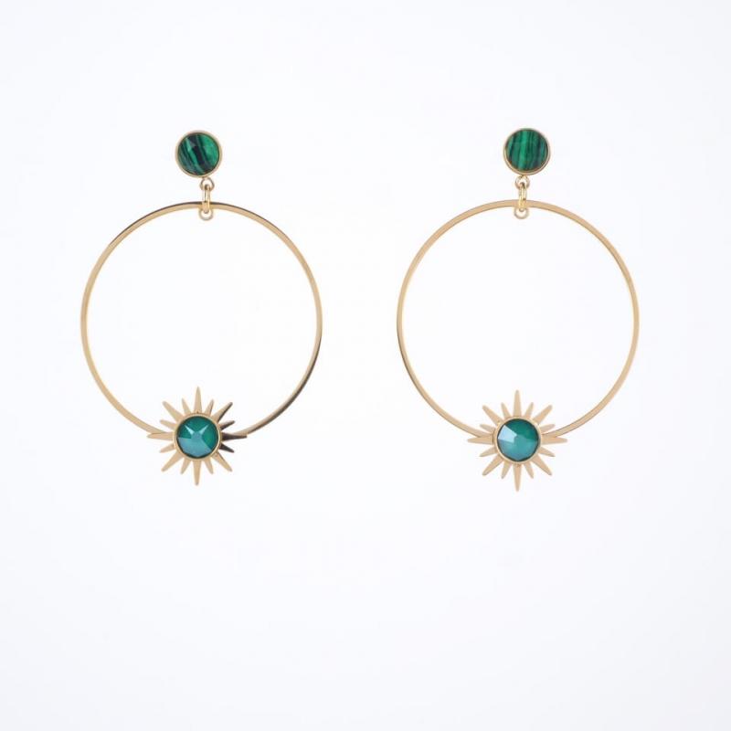 Missy gold hoops earrings -...