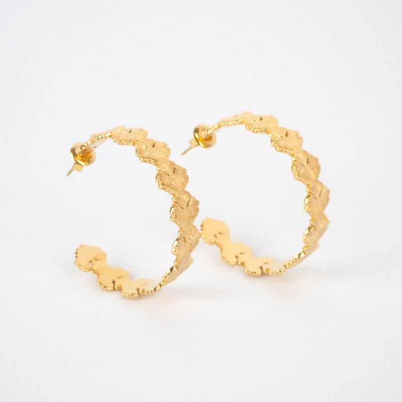 Miki gold hoops earrings -...