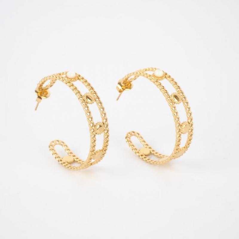 Melodie gold hoops earrings...