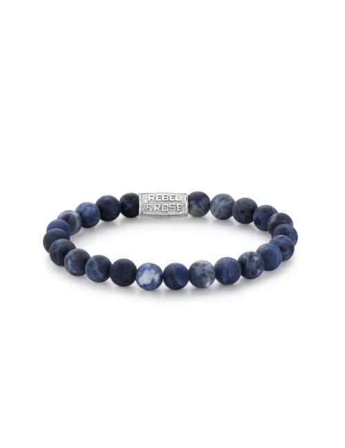 Mad Midnight 8mm stone bracelet - Rebel & Rose
