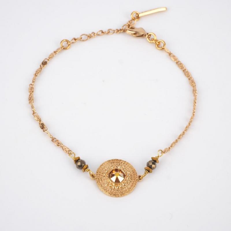 Bracelet glamour doré -...