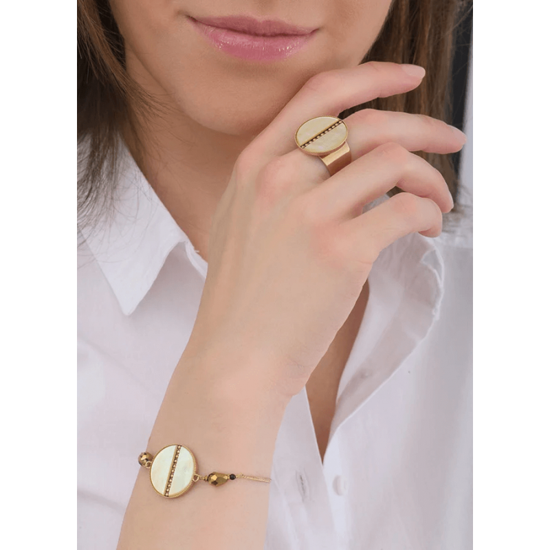 Sunny pearl gold bracelet -...