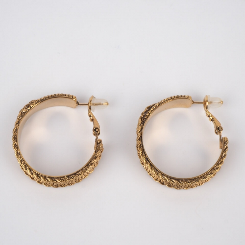 Golden braided hoop...